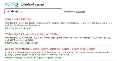 Bing Instant Search with Jquery and Ajax