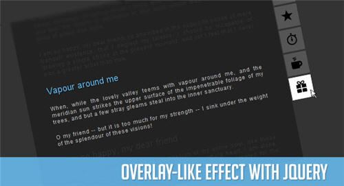 Overlay-like Effect with jQuery, jquery tutorial
