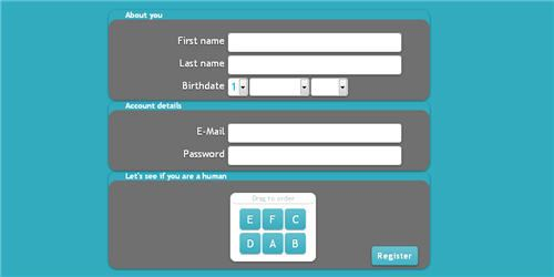 jQuery draggable captcha