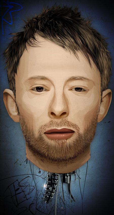 Thom Yorke the Android by fat jedgfx