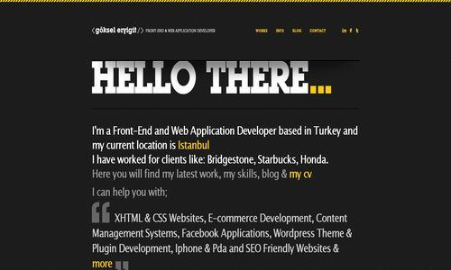 dark website, dark portfolio, dark, portfolio, websites