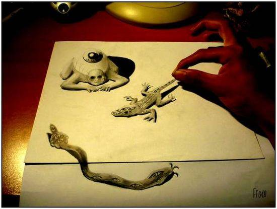 Incredible-and-Scary-3D-Pencil-Drawings-11