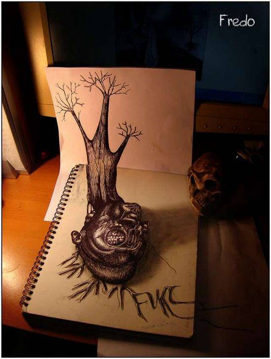 Incredible-and-Scary-3D-Pencil-Drawings-2