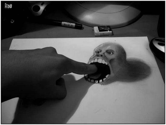 Incredible-and-Scary-3D-Pencil-Drawings-8
