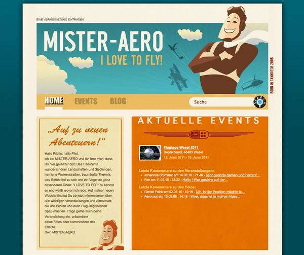 Retro Vintage Web Design