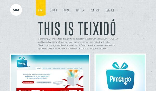 textured web designs