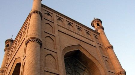 Mosque-in-Quka-East-Turkestan