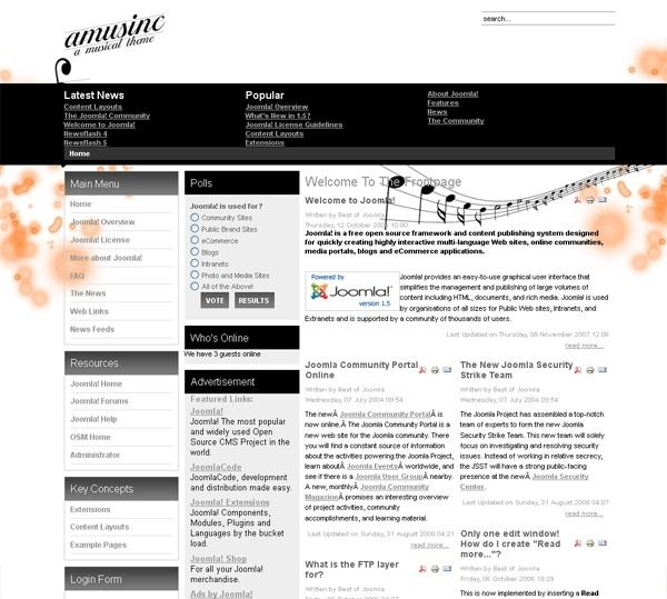 Amusinc_blog_joomla_template
