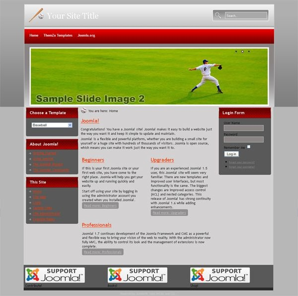 Baseball_joomla_template