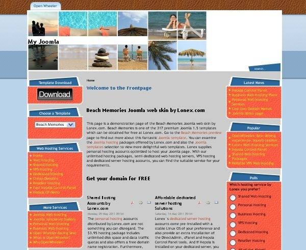 Beach_Memories_joomla_template