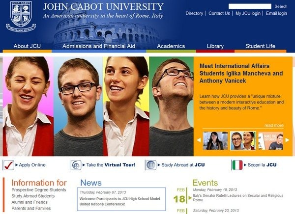 john_cabot_university_educational_websites_inspiration